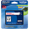 "Brother 12mm (1/2"") Red on White Laminated Tape (8m/26.2') (1/Pkg)"