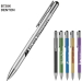 Denton plunger-action pen made of metal with a chrome tip and a one-piece rounded tip and plunger, Black.