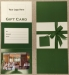 Gift Card Holder, Green, Tri-Fold