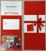 Gift Card Holder, Red, Tri-Fold